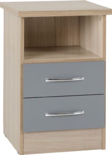 Blanca Grey Bedside Chest